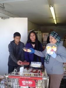 Tol Family at Work at a Food Pantry