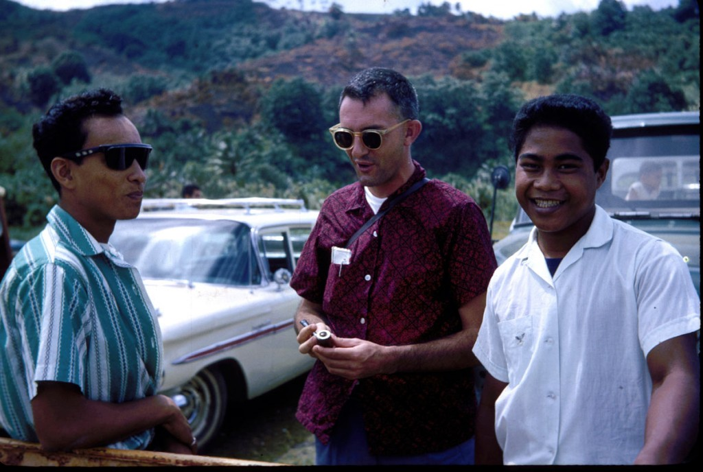 Taka with a young Bill McGarry and another Xavier student, William Eperiam, in Wene, Kiti in the mid-60s